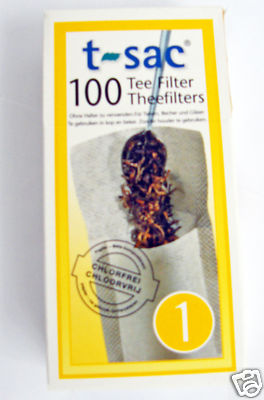100 t-sac Tea Filters - Size One