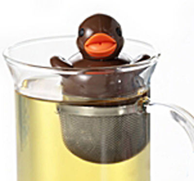 Floating 'Rubber Duck' Novelty 1 Cup Tea Infuser Brown