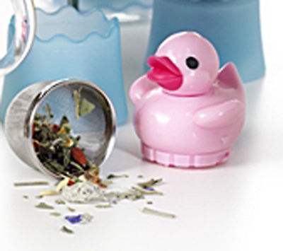 Floating 'Rubber Duck' Novelty 1 Cup Tea Infuser Pink